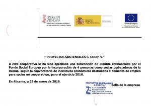 Ayuda Fondo Social Europeo 2016
